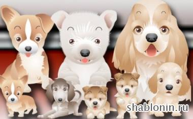 ������ � ����� � ������� / Dogs clipart