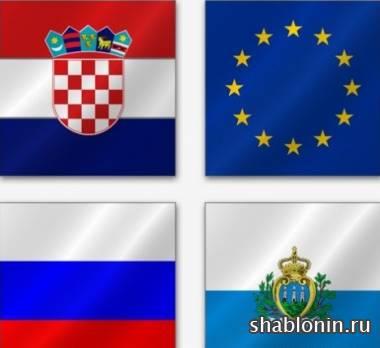 флаги европейских государств