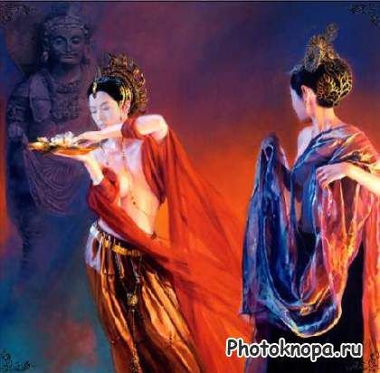 Шаблон для фотошопа китайские