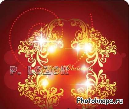 ������� ��������� � ������� / Clipart Gold Ornament