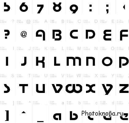 Толстые и жирные шрифты для фотошопа