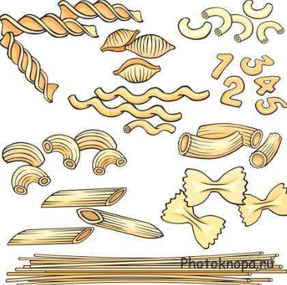 Как нарисовать макароны карандашом поэтапно 4