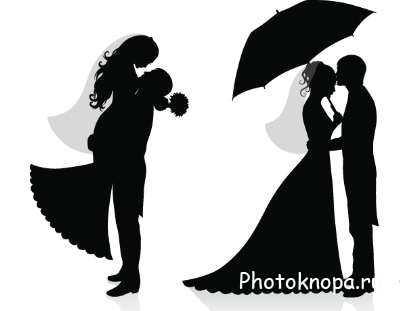 Прикольный рисунок жениха и невесты