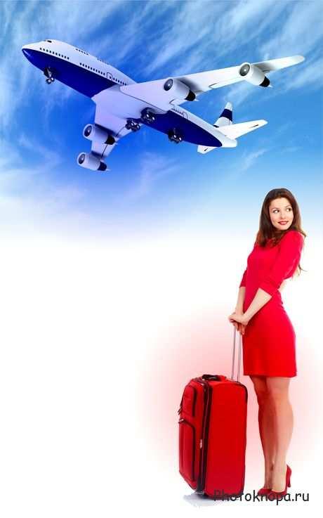 Аэропорт, самолеты, люди - клипарт