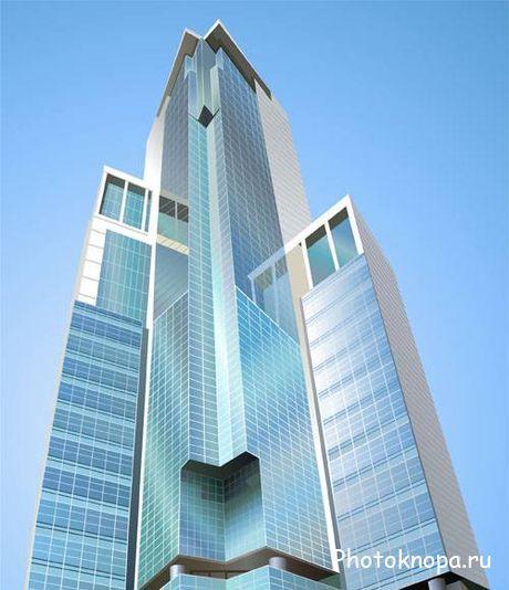 Современные высотные дома и здания в