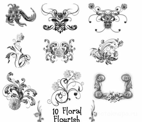 ����� ��� �������� ��������� - Floral Brushes