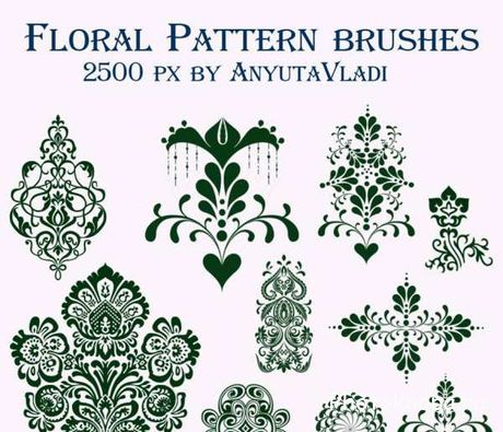 ��������� ����� ����� ��� �������� - Floral brushes
