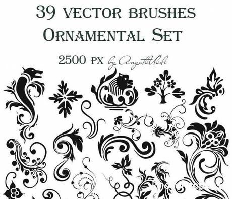 Кисти орнаменты / Ornamental brushes