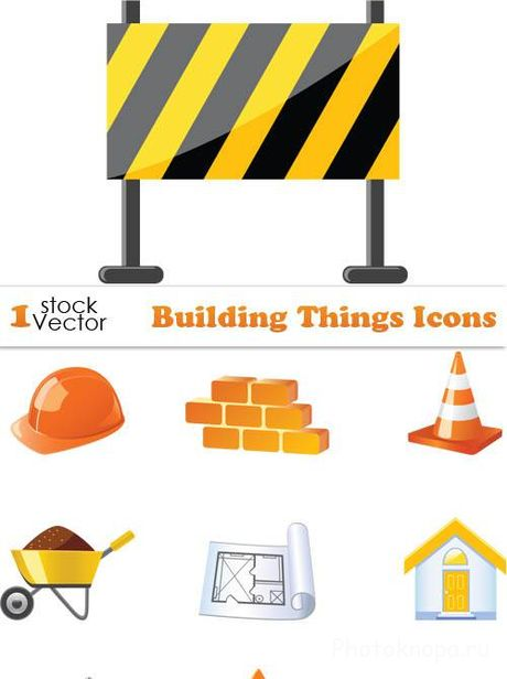������������ ������ � ������� - Building Things Icons