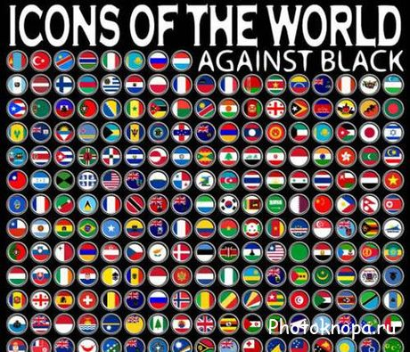 Национальные флаги стран векторные