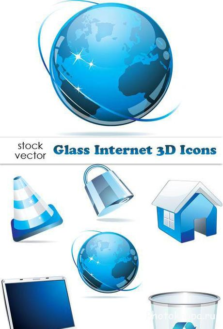 3D �������� ������ ��������� ������� - Internet Icons