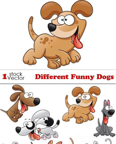 ������� ����� ����� � ������� - Dogs Vector