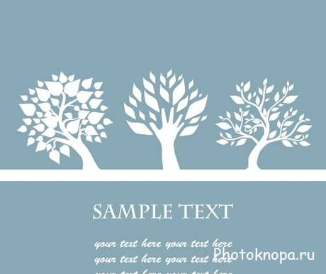 ������� � ������� - Trees Vector