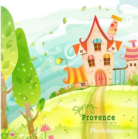 Картинки разноцветные домики