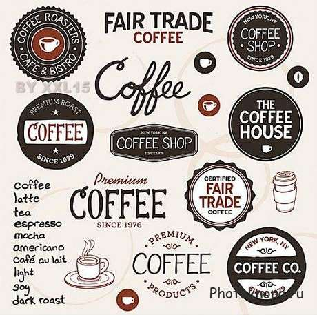 �������� � ������ ��� ���� � ������� - coffee labels