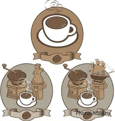 �������� ������ � ������� - Coffee icons