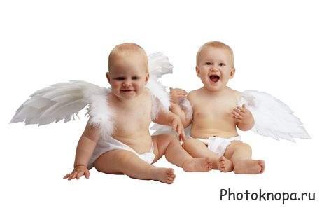 Клипарт дети ангелы и ангелочки