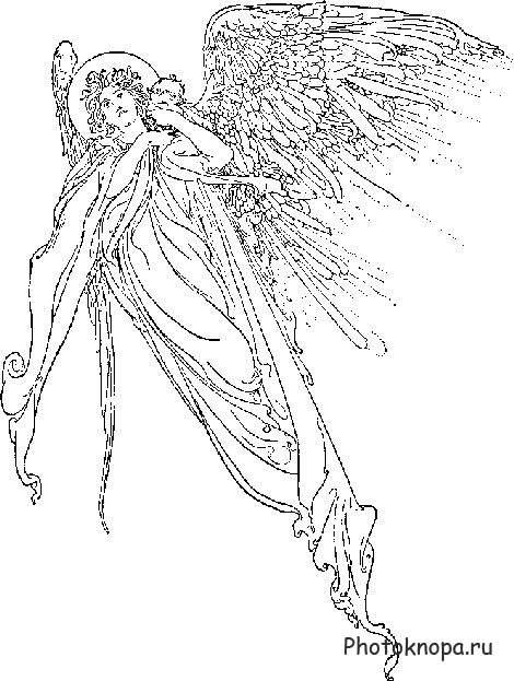 Ангел картинки нарисованные цветные