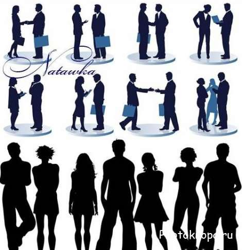 ������� ������� ����� � ������� / People silhouettes