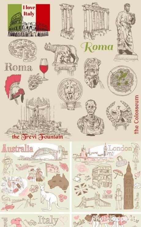 Европейские символы и флаги стран