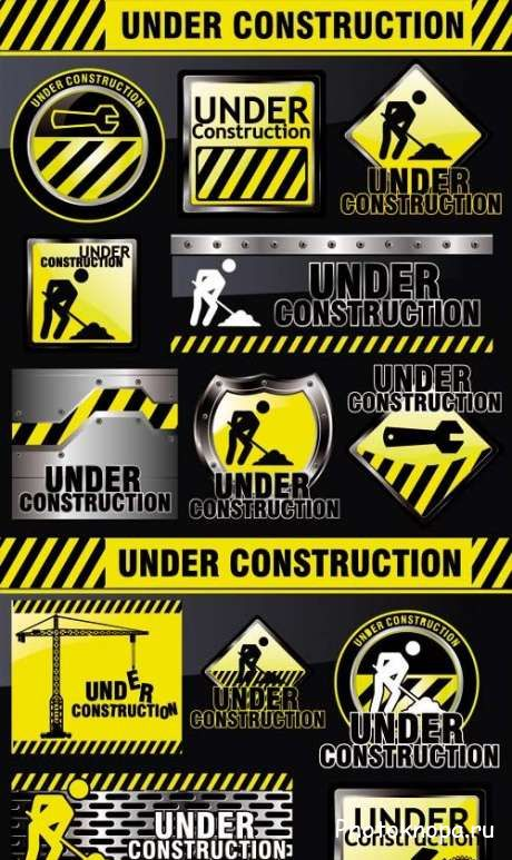 ����� ������� � ������������� ��������� ������� - Signs construction vector