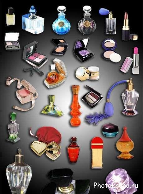 Парфюмерия, косметика - PSD исходник для ...: www.photoknopa.ru/clipart/other-clipart/7607-parfyumeriya-kosmetika...