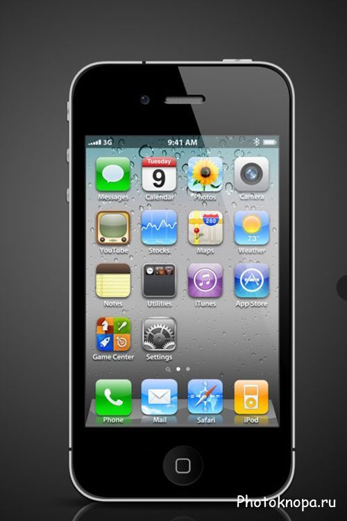 ��������� ������� Apple iphone 4 - PSD �������� ��� ��������