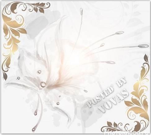 Белые цветы лепестки бутоны psd