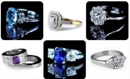 Кольцо с бриллиантом в плоских и линейных стилях - векторный ... | 265x435