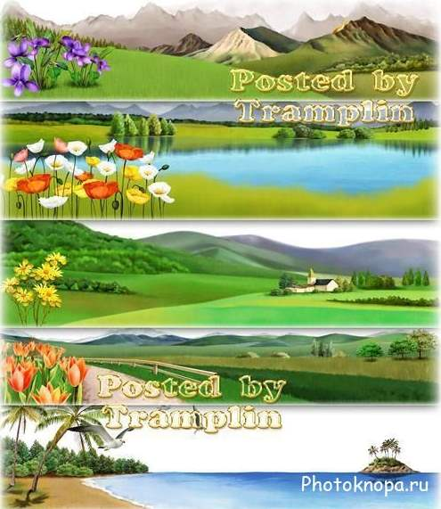Веб-баннеры для сайта разного размера и формы - PSD для ... Баннер для Сайта Размер