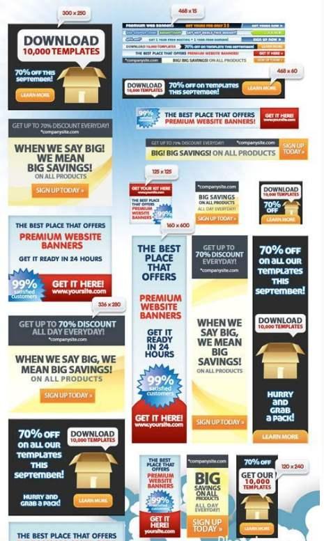 Креативные баннеры для сайта - PSD шаблоны для фотошопа ... Баннер для Сайта Размер