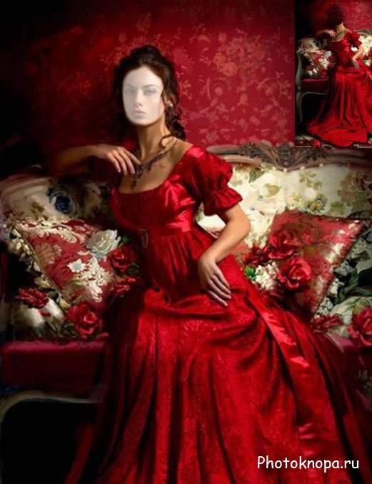 Девушка в красном 20 фото