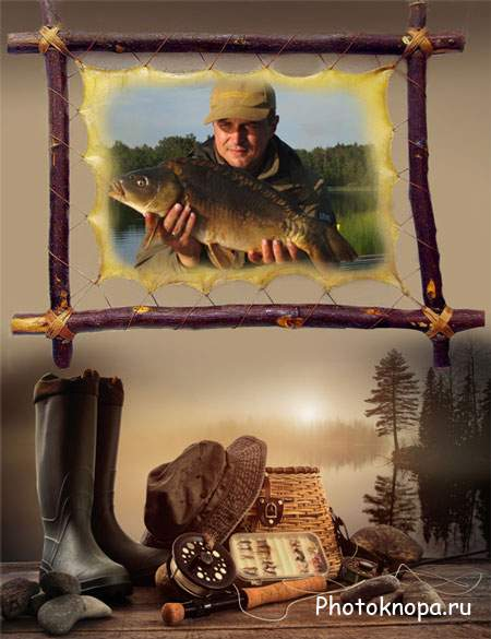 шаблон для фотокниги о рыбалке