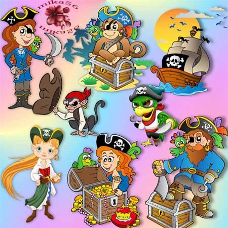 Клипарт – Остров пиратов