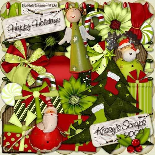Рождественский скрап-набор - Веселый праздник
