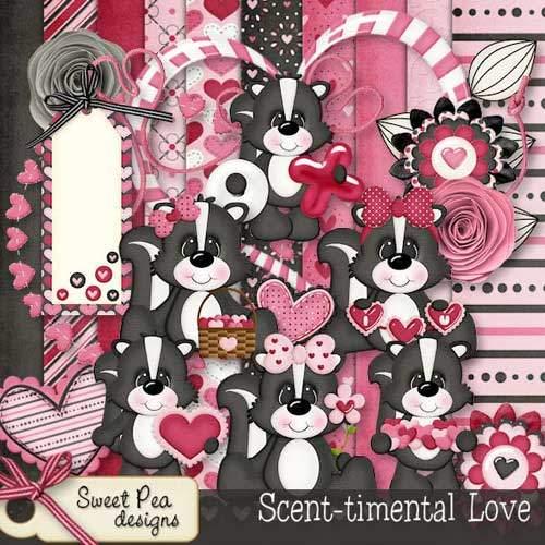 Романтический скрап-набор - Сентиментальная любовь