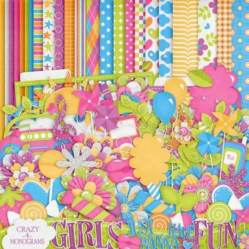 Детский скрап-набор - Girls just wanna have fun