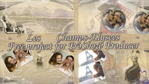 Проект для ProShow Producer - Елисейские поля