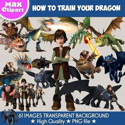 Клипарт - Как приручить дракона