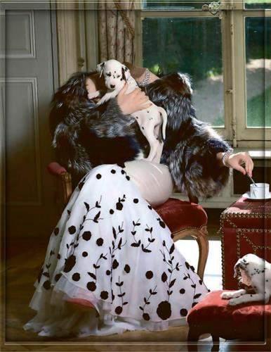 Фотошаблон для фотомонтажа - Девушка с долматинцем