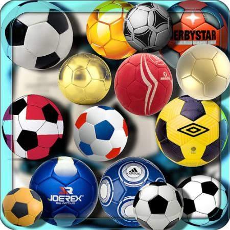 Растровые клипарты - Футбольные мячи