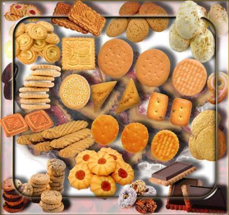 Клипарты для фотошопа - Сахарное печенье
