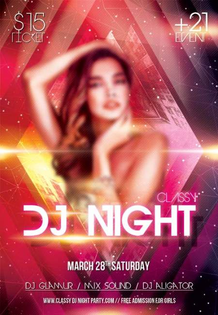 Classy Night Party psd flyer template