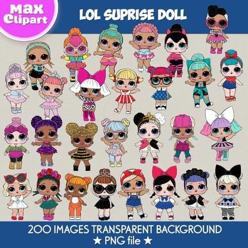 LOL Suprise Dolls clipart