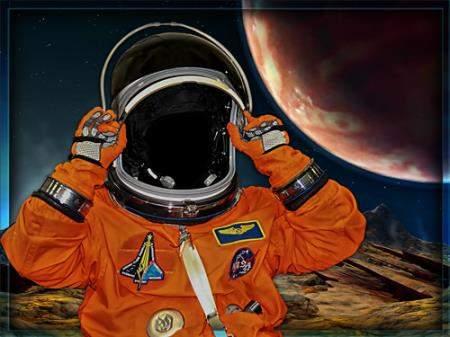 Юмористический фотошаблон - На чужой планете