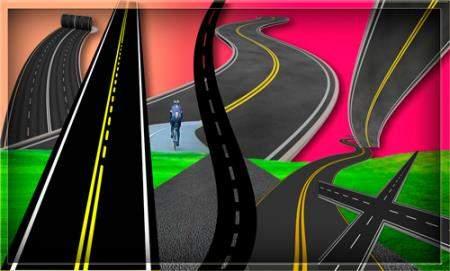 Клипарты для фотошопа - Асфальтированные дороги