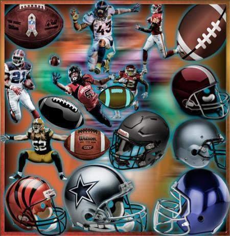 Картинки на прозрачном фоне - Мячи и игроки американско ...