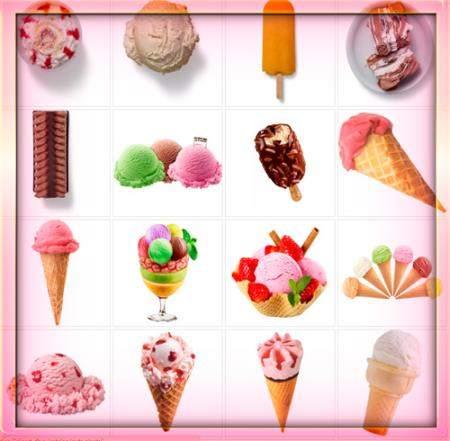Прозрачные картинки для фотошопа - Мороженное