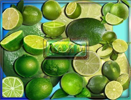 Клипарты для фотошопа - Зеленый лайм