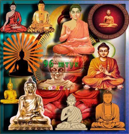 Клипарты / Cliparts - Индийская Будда